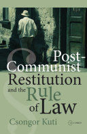 Post-Communist Restitution and the Rule of Law Pdf/ePub eBook