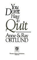You Don t Have to Quit Book PDF