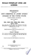 Hearings  Reports and Prints of the Joint Committee on Atomic Energy