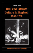 Oral and Literate Culture in England, 1500-1700 Pdf/ePub eBook