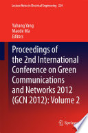 Proceedings Of The 2nd International Conference On Green Communications And Networks 2012 Gcn 2012  Book