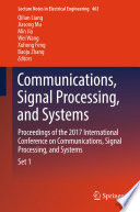 Communications  Signal Processing  and Systems Book