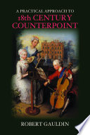 A Practical Approach to 18th Century Counterpoint Book PDF