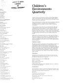 Children's Environments Quarterly