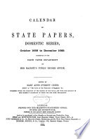 Calendar of State Papers  Domestic Series  of the Reign of Charles II