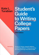 link to Student's guide to writing college papers in the TCC library catalog
