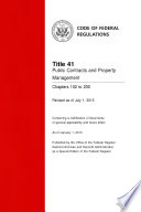Title 41 Public Contracts and Property Management Chapters 102 to 200  Revised as of July 1  2013