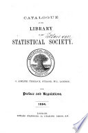 Catalog Of The Library Of The Statistical Society