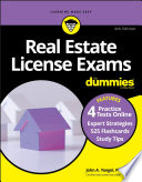 Real Estate License Exams For Dummies with Online Practice Tests Book