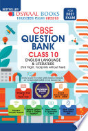 """Oswaal CBSE Question Bank Class 10, English Language & Literature (For 2021 Exam)"" by Oswaal Editorial Board"