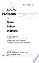 Local Planning for Better School Districts