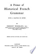 A Primer of Historical French Grammar