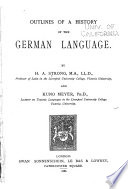 Outlines of a history of the German language
