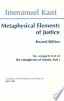 Metaphysical Elements of Justice
