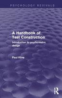 A Handbook of Test Construction (Psychology Revivals)