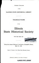 Transactions Of The Illinois State Historical Society