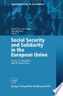 Social Security And Solidarity In The European Union