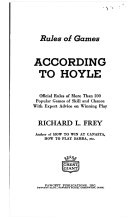 RULES OF GAMES: ACCORDING TO HOYLE