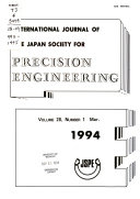 International Journal of the Japan Society for Precision Engineering