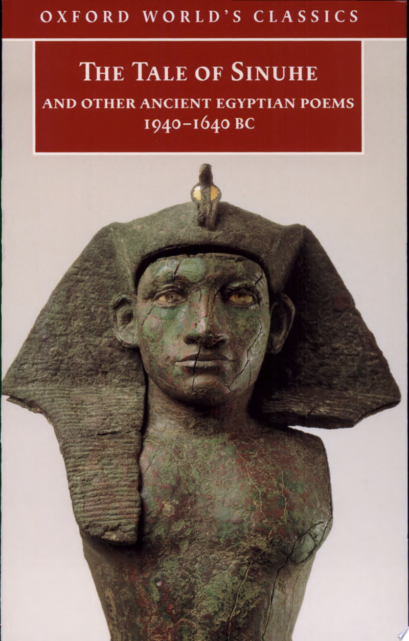 The Tale of Sinuhe and Other Ancient Egyptian Poems, 1940-1640 BC banner backdrop