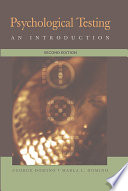 """""""Psychological Testing: An Introduction"""" by George Domino, Marla L. Domino"""