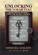 Unlocking the Torah Text Numbers Bamidbar