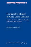Comparative Studies in Word Order Variation