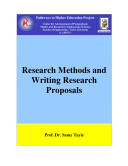 Research Methods and Writing Research Proposals