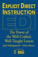 Explicit Direct Instruction  EDI