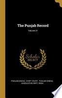The Punjab Record;