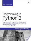 Programming in Python 3