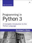 Pdf Programming in Python 3 Telecharger