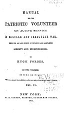 Manual for the Patriotic Volunteer on Active Service in Regular and Irregular War