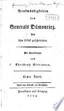 Denkwürdigkeiten des generals Dümouriez