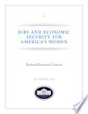 Jobs and Economic Security for America's Women