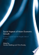 Social Aspects Of Asian Economic Growth
