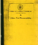 Code of Conduct Bureau Public Forum on Ethics and Accountability