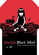 Emily s Black Mail Fold and Mail Stationery
