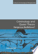 Criminology and Queer Theory Book
