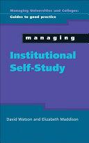 Managing Institutional Self Study