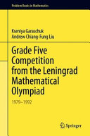 Grade Five Competition from the Leningrad Mathematical Olympiad Book PDF