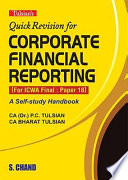 Quick Revision for Corporate Financial Reporting (For ICWA Final: Paper 18)