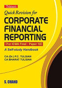Quick Revision for Corporate Financial Reporting (For ICWA Final: Paper 18) [Pdf/ePub] eBook