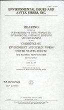 Environmental Issues and Avtex Fibers  Inc