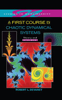 A First Course In Chaotic Dynamical Systems