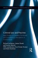 Criminal Law and Precrime Pdf/ePub eBook