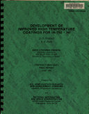 Development of Improved High Temperature Coatings for IN-792 + HF