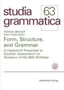 Form  Structure  and Grammar