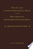 Download Private Law in the International Arena Epub