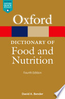 A Dictionary of Food and Nutrition Book